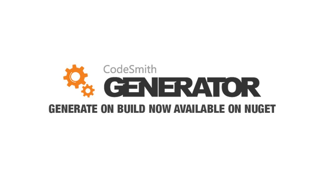 Codesmith Generate on Build MSBuild
